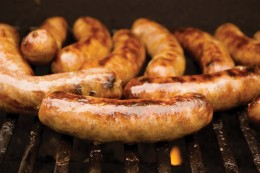 Idaho Sausage on BBQ