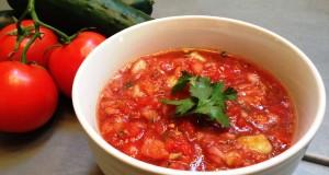 Fresh Tomato Cucumber Gazpacho