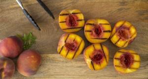 Grilled Idaho Peaches