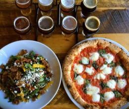Flatbread - pizza + beer + salad