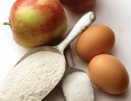 apples, flour, eggs