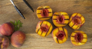 Grilled Idaho Peaches