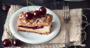 Delicious and fresh cherry pie