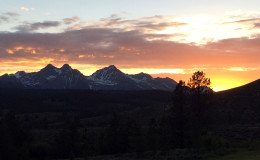 Sawtooth Mountains at Sunset